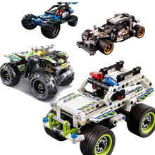 Technic Series Building Blocks Racing Car Assembling Pull Back Car Bricks Children Car Model Toys Gifts недорого