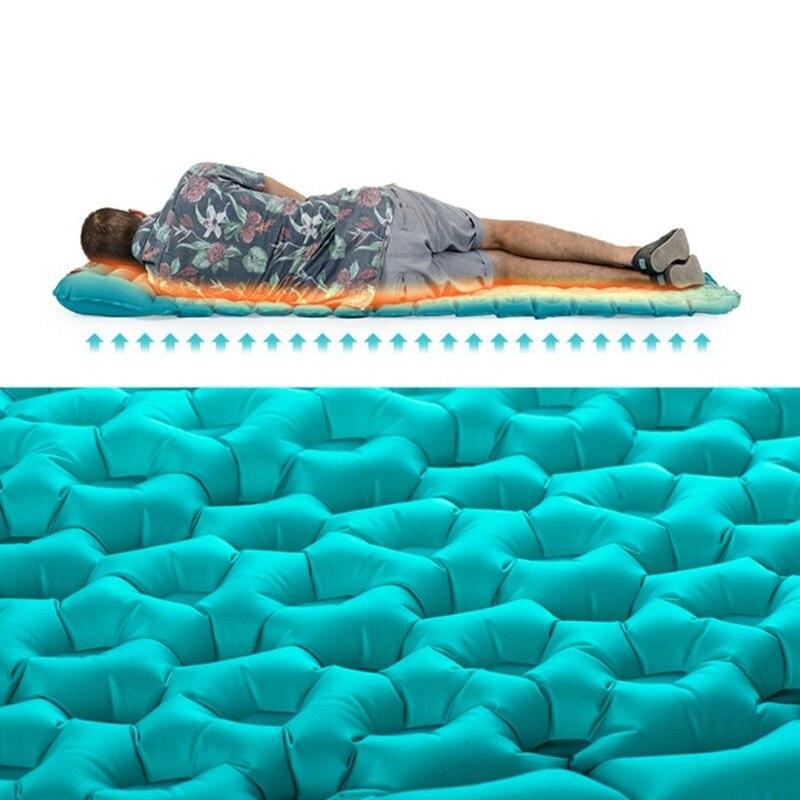 1870*570*30mm Utral Lumière Portable Unique Matelas Confortable Oeuf Forme résistant à L'humidité de Camping Tapis Avec oreiller