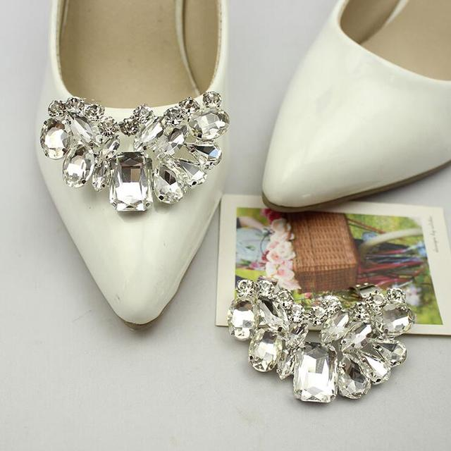 441cecd52 Removable women wedding shoes clips decorative Beautiful Shoe accessories  shoe clip crystal rhinestones