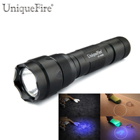 UniqueFire WF 502B UV 385 390NM Ultraviolet LED Flashlight Scorpion Detector To Find Stains On Carpet