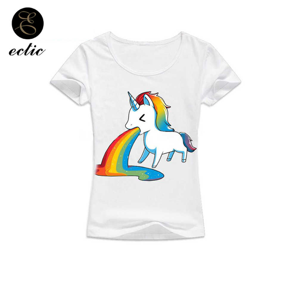Funny unicorn tshirt white vetement femme ulzzang kawaii clothes women  japan cute style unicorn color jpg 0481d0e8f