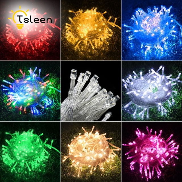 cheap 10m led string light christmas lights indoor outdoor xmas tree decoration 100 leds waterproof holiday