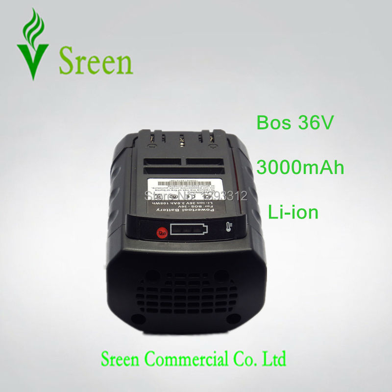 3000mAh New Spare Rechargeable Lithium Ion Replacement Power Tool Battery for Bosch 36V BAT810 BAT836 BAT840 D-70771 2607336108 dvisi 36v 4000mah new rechargeable li ion power tool battery replacement for bosch 36v bat810 bat836 bat840 d 70771 2607336108
