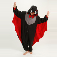 Cute Cartoon Animal Bat Pajamas Winter Adult Unisex Long Sleeve Cosplay Fleece Pyjamas Sets Homewear For