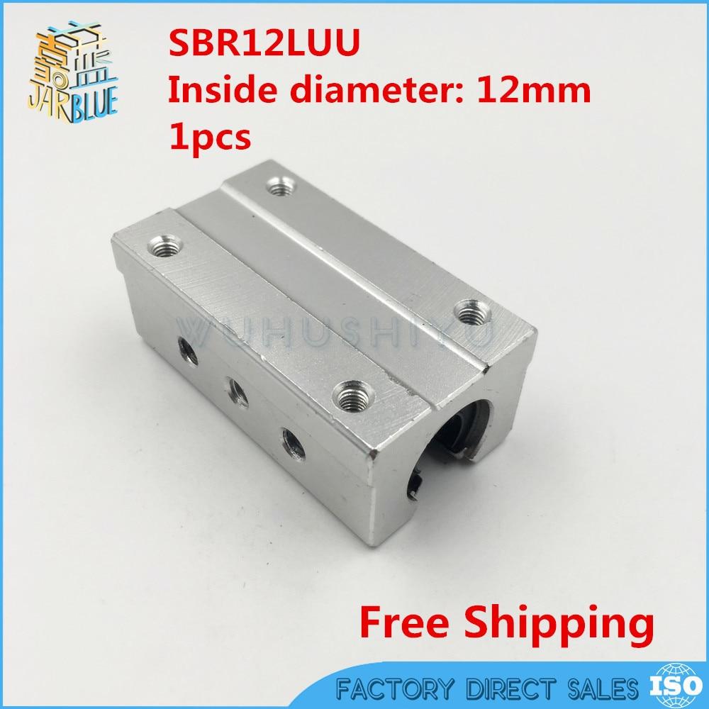 Free Shipping SBR12LUU SBR12L 12mm Linear Ball Bearing Slide Unit 12 Mm Linear Bearing Block