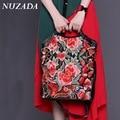 Brands NUZADA Women Ladies Hand bag Handbag Tote Satchel Shoulder Messenger Crossbody Bags  Genuine Leather National sxd-014