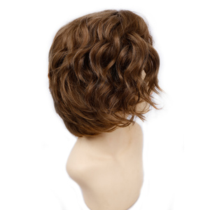 Image 2 - Amir Short Wavy Bob Wig Synthetic Hair Wigs For Women Cosplay Wigs Blown and Blonde wig