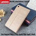 Para lenovo estojo de couro pu protetora para lenovo tab3 7 tb3-730m tb3-730f escudo protetor 7 polegada/tb3-730x pacote de proteção