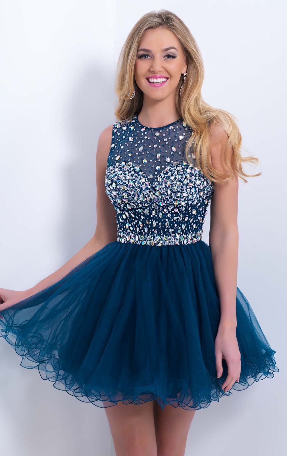 Most Popular 2015 Sexy Girl Prom Dress Scoop Sleeveless -4282