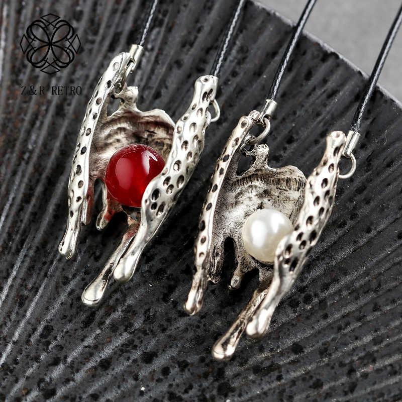 樹脂ビーズステートメントネックレスヴィンテージハンドメイドペンダントネックレス卸売ユニコーンネックレスファッション Jewlery アクセサリー