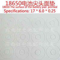100 stücke Lithium-Batterie Hochtemperaturbeständige Isolierdichtung Weiß Karton Isolator 18650 Hohlspitze Dichtung Großhandel