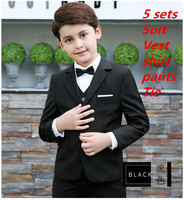 2017 Full Regular Coat Boys Suits For Weddings Kids Prom Wedding Clothes For Children Clothing Sets Boy Classic Costume Dresses