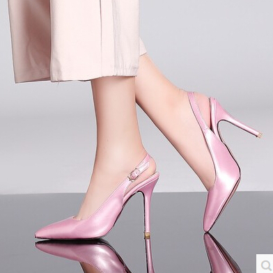 Women S Shoes Professional Pink Red Wedding Bride Fine With High Heeled Baotou