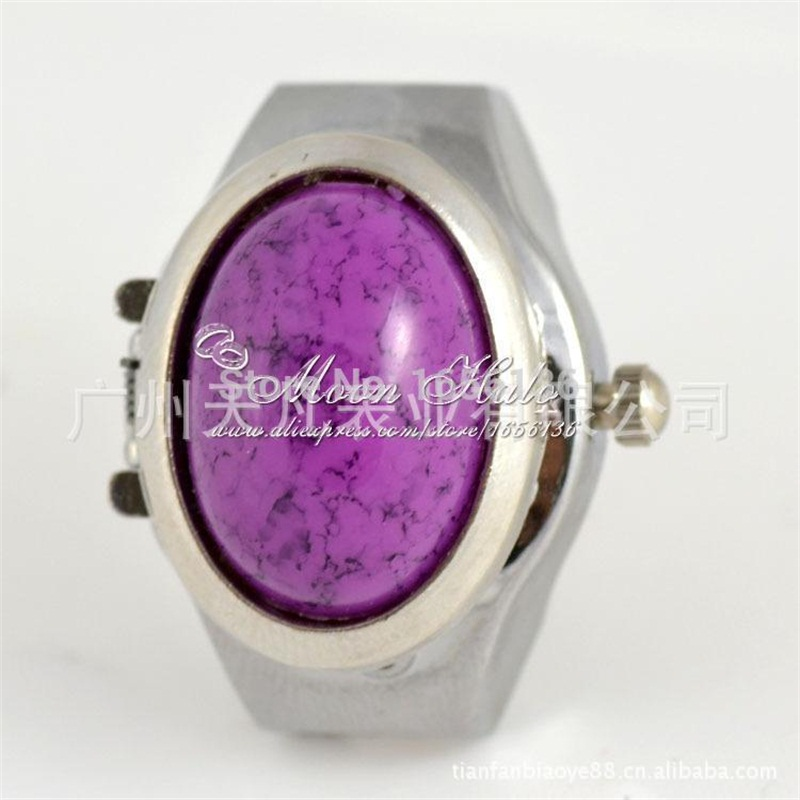 цена  New new arrival promotion Every day watch black grain purple gem ring table To fashion sheet is tasted Timer  онлайн в 2017 году