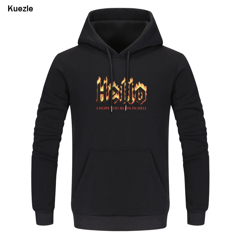 Rick And Morty Hoodies Men Hooded Sweatshirts 2018 Brand New Fire Hello Print Mens Pullover Sweatshirt Casual Funny Sweat Homme
