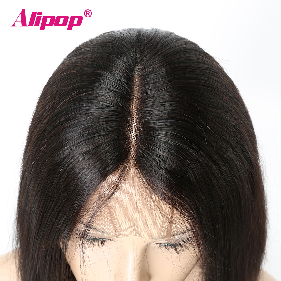 Alipop Glueless Short Bob Wigs Brazilian Straight Hair Pre Plucked Full Lace Wigs For Women Remy Human Hair Bob Wig Natural Hair