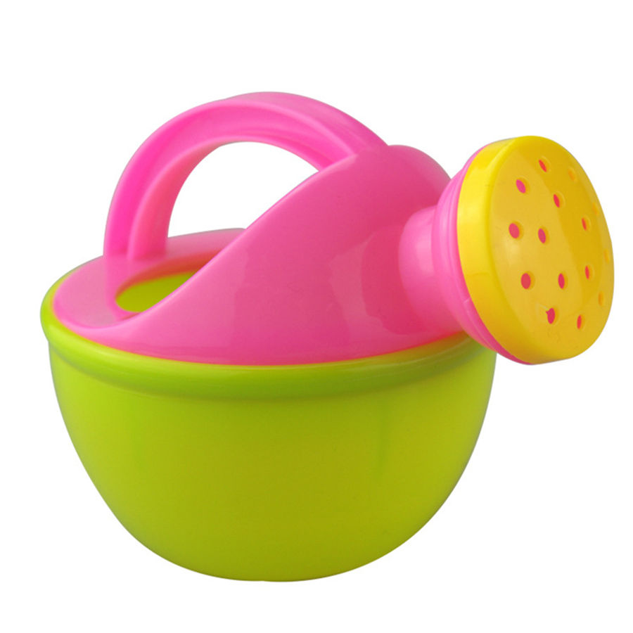 Baby Bath Toy Colorful Plastic Bathing Shower Watering Can Pot Beach Play Sand Fun Gift Toys for Children Kids Random Color 2