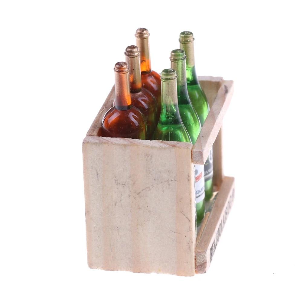 6Pcs//Set Dollhouse Wine Bottles /& Wine Cups Miniature 1:12 Dollhouse Kitchen