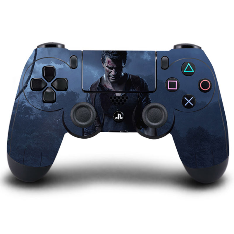 HOMEREALLY Game PS4 Controller Skin UNCHARTED 4 PVC Sticker Full Cover for Sony Play Station 4 Wireless Controller PS4 Accessory