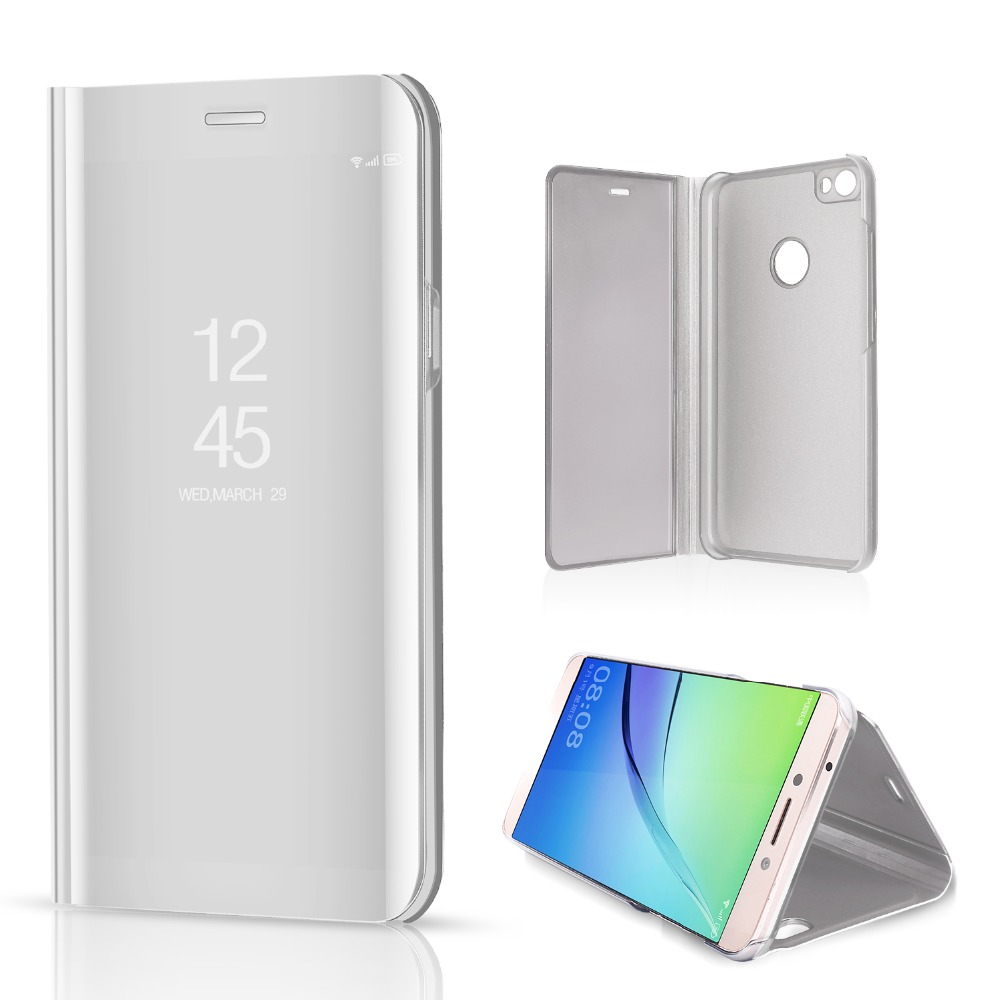online store 5c15e 8bff2 US $4.96 |OCUBE For Xiaomi Redmi Note 5 Pro Mirror Clear View Cover  Electroplating Flip Case For Redmi Note 5A Note 4X Smart Flip Leather -in  Flip ...