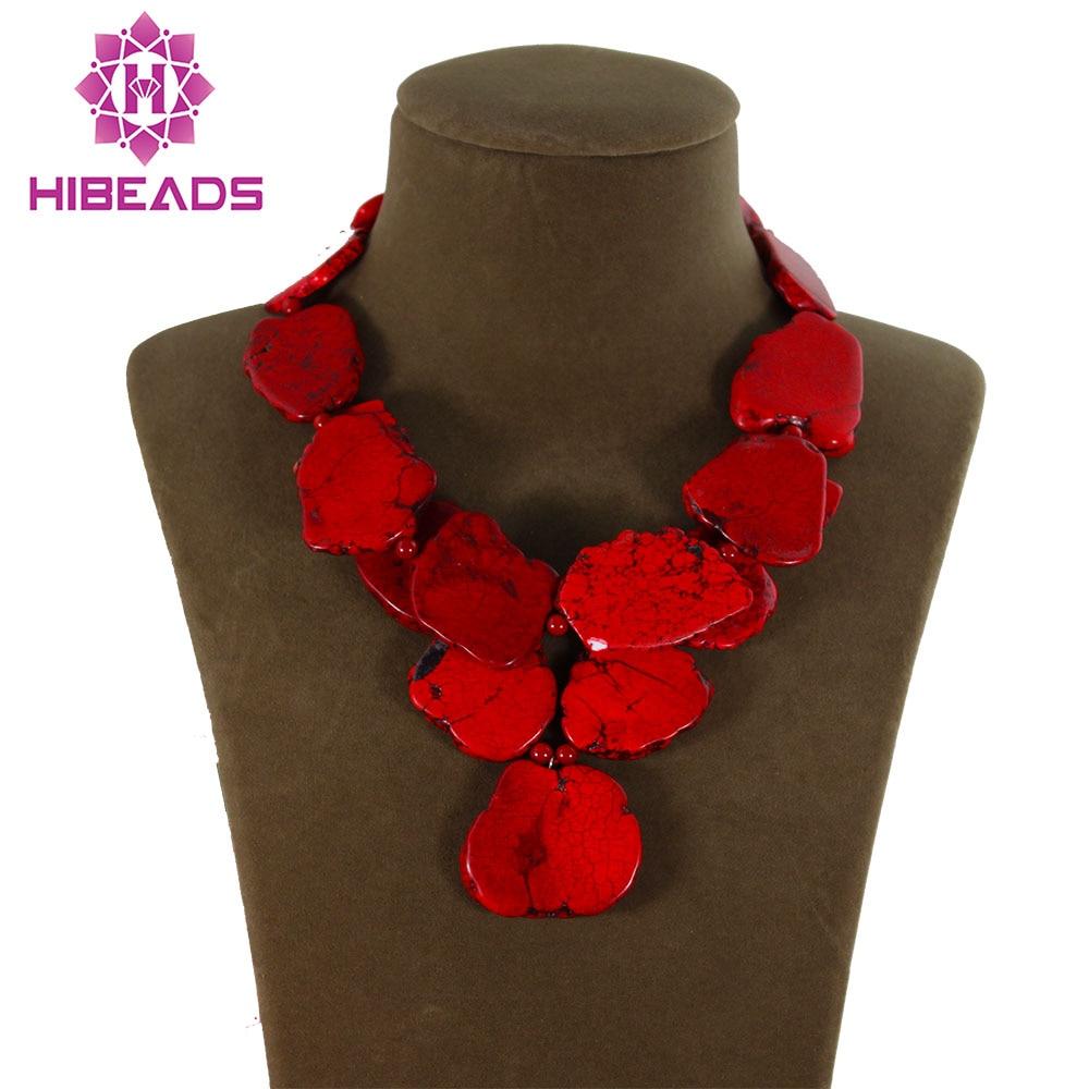 Splendid Chunky Red Stone Necklace Irregular Natural Stone Slice Fashion Jewelry 8 Colors Free Shipping TN111 браслет mio slice stone large