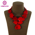 Splendid Chunky Red Turquoise Necklace Irregular Natural Turquoise Slice Fashion Jewelry 8 Colors Free Shipping TN111