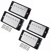 2 Set Upgrade Guitar Humbucker Pickup For Electric Guitar Replacement Chrome Plated
