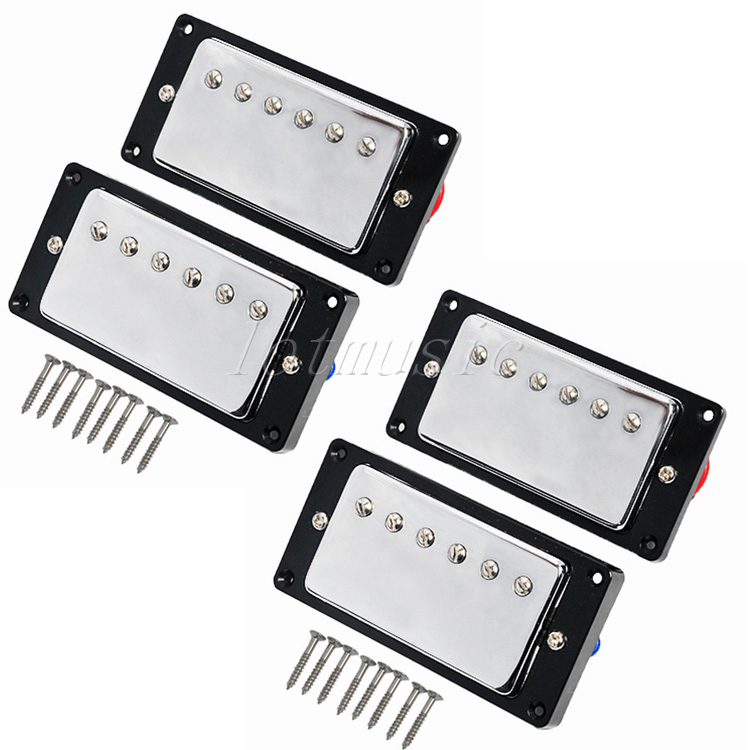 2 Set Upgrade Guitar Humbucker Pickup For Electric Guitar Replacement Chrome Plated single coil pickup cover 1 volume 2 tone knobs switch tip for strat guitar replacement ivory 10 set