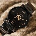 Women's Watch Black KEVIN Creative Wrist Watch Men's Stainless Steel Quartz Watches Sports Casual Dress Clock erkek kol saati