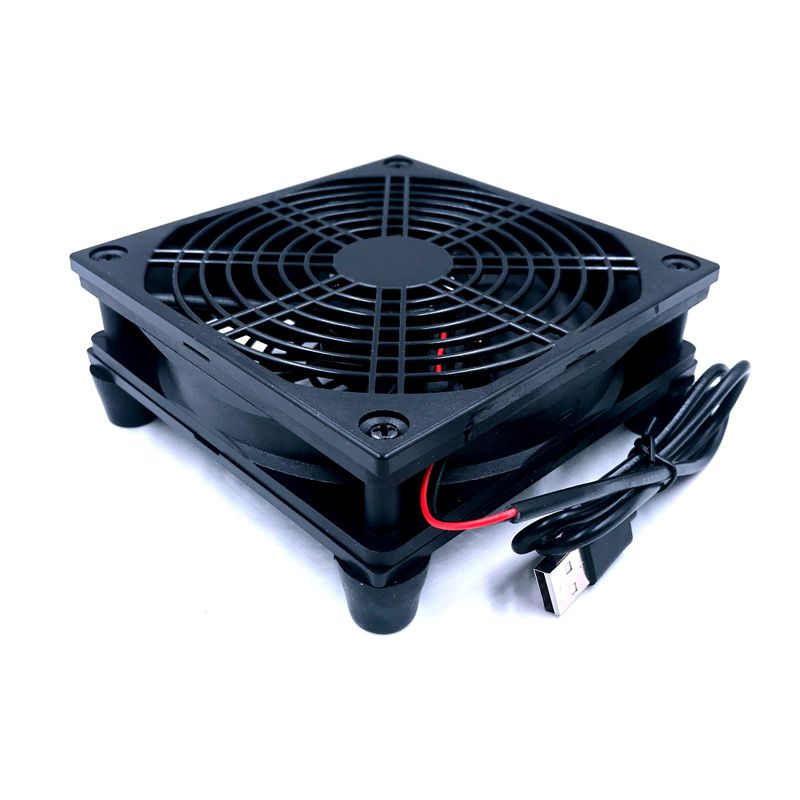 Router Fan DIY PC Cooler TV Box Wireless  Cooling Silent Quiet DC 5V USB Power 120mm Fan 120x25mm 12CM W/Screws Protective Net(China)