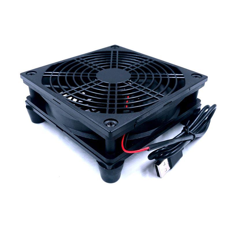 Router fan DIY PC Cooler TV Box inalámbrico de silencio tranquilo DC 5 V de alimentación USB ventilador de 120mm 120 x 25mm 12 CM W/tornillos red de protección