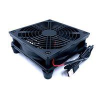 Ventilador do roteador diy pc caixa de tv refrigerador sem fio refrigeração silencioso dc 5 v usb power 120mm ventilador 120x25mm 12 cm com parafusos rede protetora