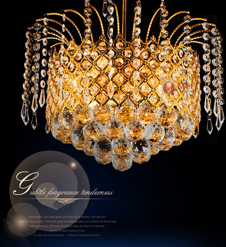 2015 Gold Crystal Chandelier Lamp Luxury Crystal Fixture Lights Lusters de cristal Chandeliers Ceiling For Living Room crystal modern chandelier lights bedroom living room chandeliers crystal lusters de cristal chandelier lighting crystal fixture