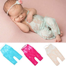 2018 Cute Baby Clothes Newborn Infant Baby Girl Photography Prop Lace Romper Jumpsuit Princess Clothes(China)