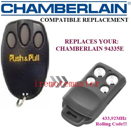 Chamberlain 94335E,liftmaster 94335E replacement remote 433,92MHZ rolling code garage door opener цены