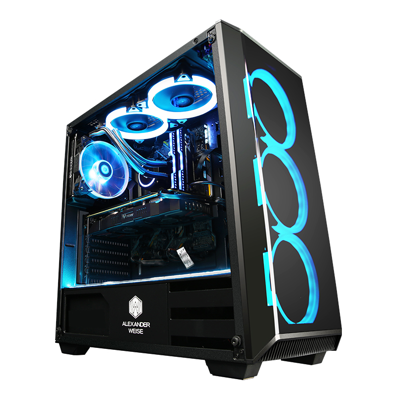 Getworth R8 Intel I5 8500 3.0GHz GTX 1050Ti Gaming PC Desktop Computer 120GB/240G SSD 8GB 16GB RAM 6 Free Blue Fans Home Desk PC