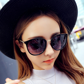 Woman Sunglasses Round Fashion Metal Glasses