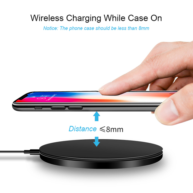 DCAE Qi Wireless Charger For iPhone 8 X XR XS Max QC3.0 10W Fast Wireless Charging for Samsung S9 S8 Note 9 S10 USB Charger Pad 5