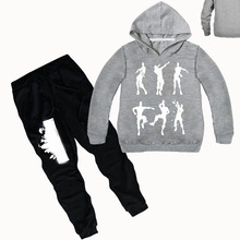 hot deal buy yls 2-12y funny dance graphic print sports suit 2 piece set girls tracksuits kids clothing sets teenager boys casual coat pants