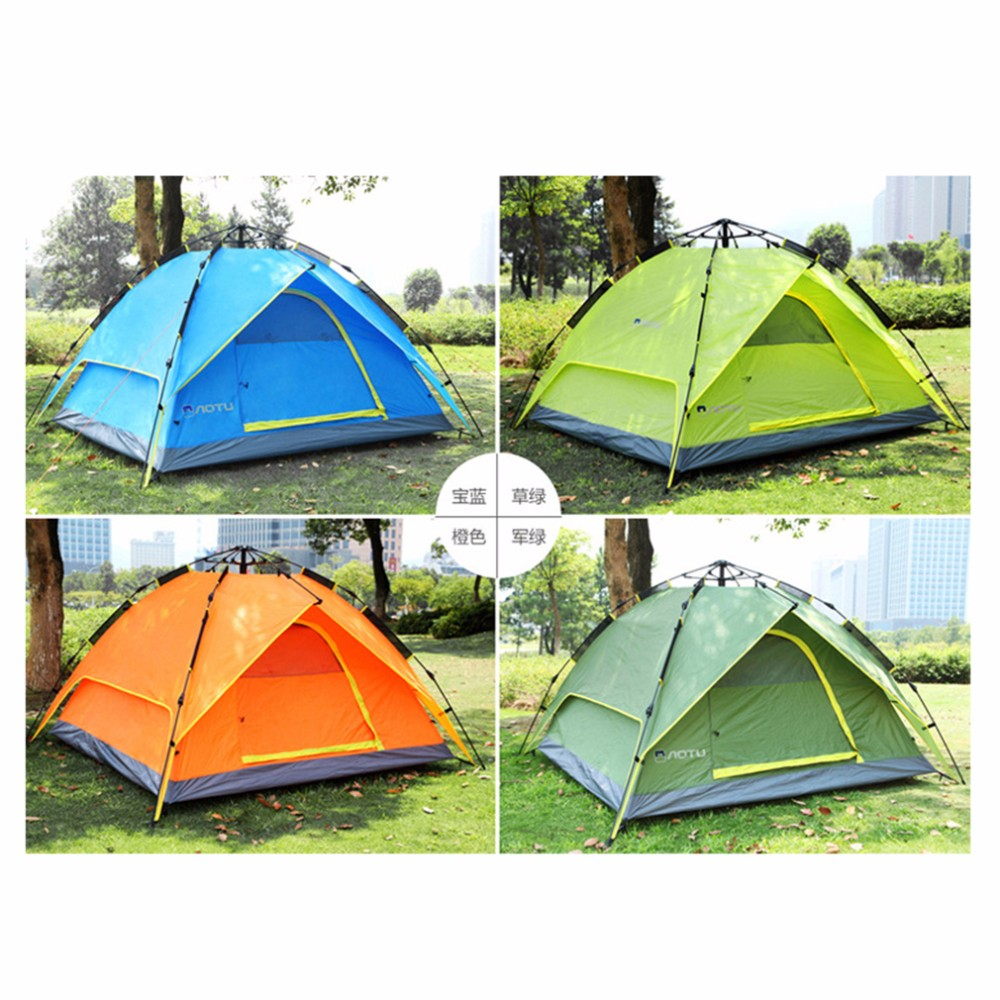 Waterproof 3 4 Person 210*210*150cm Double layer Automatic Instant Outdoor C&ing Tent Hot Sale-in Tents from Sports u0026 Entertainment on Aliexpress.com ...  sc 1 st  AliExpress.com & Waterproof 3 4 Person 210*210*150cm Double layer Automatic Instant ...