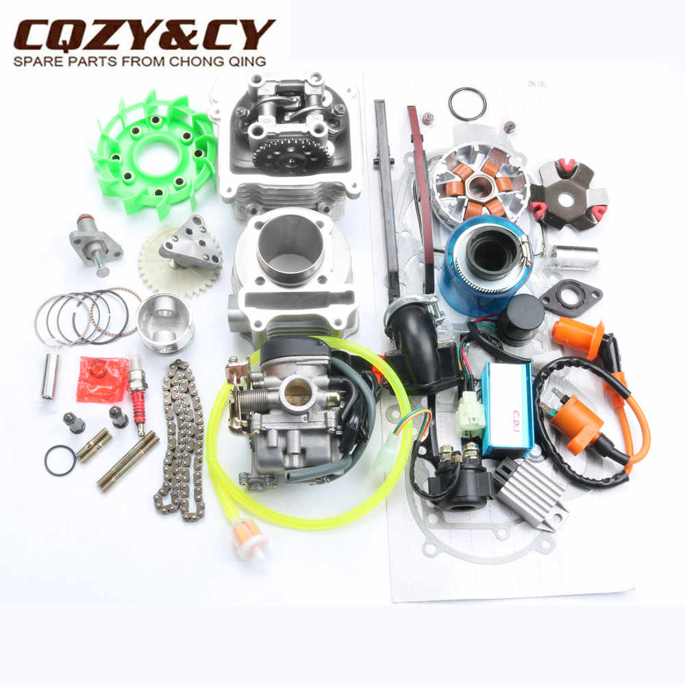 100cc Big Bore Kinerja Kit untuk GY6 50cc 139QMB Cina Scooter Parts 50 Mm/13 Mm Bor