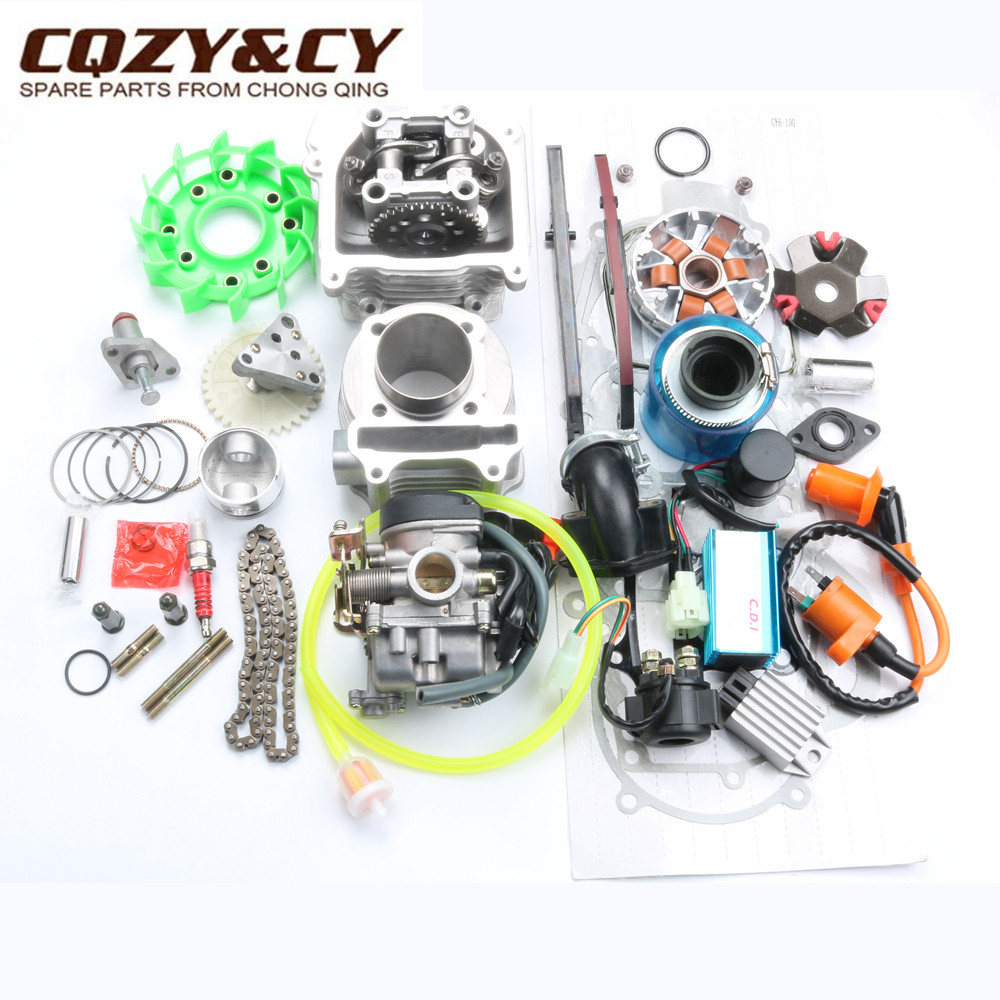 100cc Big Bore Performance Kit for GY6 50cc 139QMB Chinese Scooter Parts  50mm/13mm Bore