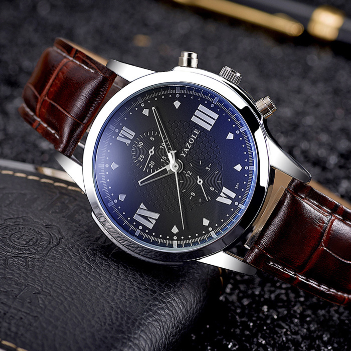 YAZOLE Business Fashion Wrist Watch Men 2018 Top Brand Famous Luxury Male Clock Quartz Watch for Men Hodinky Relogio Masculino jtron ta2024 dc 12v double track 15w 15w car pc hi fi mini digital amplifier board green