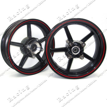 12-дюймовый 4-х облегающий обода с калибровыми отверстиями, переустановка для внедорожника, питбайка, вакуумное колесо переднего и заднего цвета белого и черного цвета