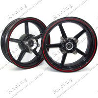 12inch 4 fitting hole Rims Refitting for Dirt bike Pit Bike Vacuum Wheel Front and Rear white and Black colour