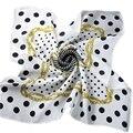Señoras de los hombres de Cadena Plazoleta Bufandas del Otoño Del Resorte 100% Accesorios de Moda Femenina de La Bufanda de Seda Pura 55*55 cm espesar Bufandas