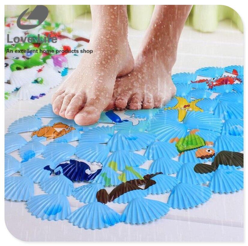 Enfant tapis de bain non-slip poissons salle de bains tapis tapis ...