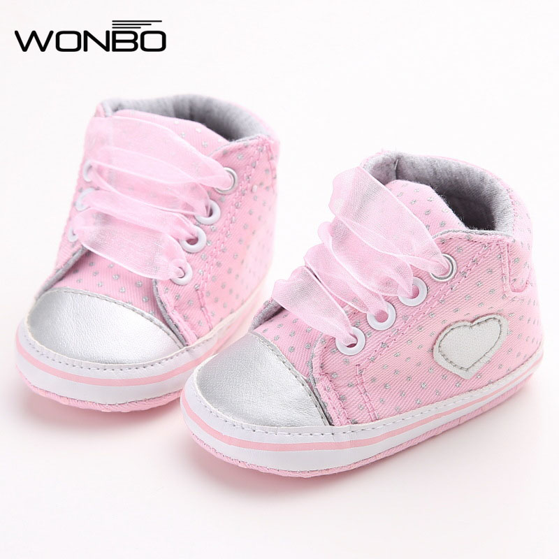Wonbo Autumn Lace-Up First Walkers Sneakers Shoes Classic Casual Baby Shoes Toddler Newborn Baby Girls Polka Dots ShoesWonbo Autumn Lace-Up First Walkers Sneakers Shoes Classic Casual Baby Shoes Toddler Newborn Baby Girls Polka Dots Shoes