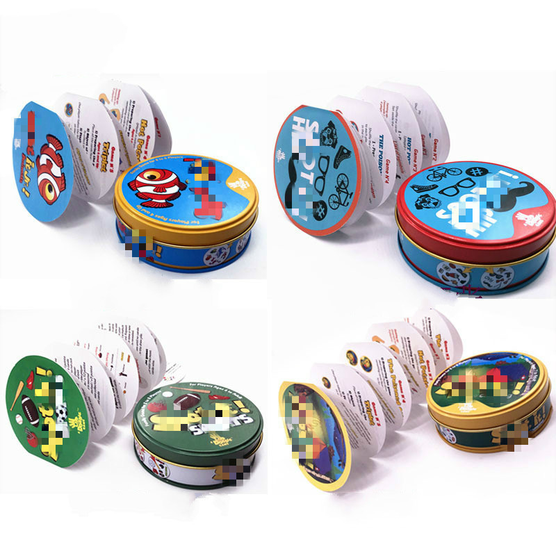 Board Game Dobble Spot For Kids Like It Find It Playing Goods Flash Pair Most Classic Cards Family Gathering Game With Metal Box