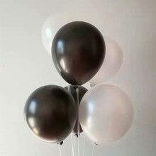 Black latex balloons 50pcs/lot 12inch 3.2g pearl white ballon inflatable wedding decors helium balloon birthday party supplies